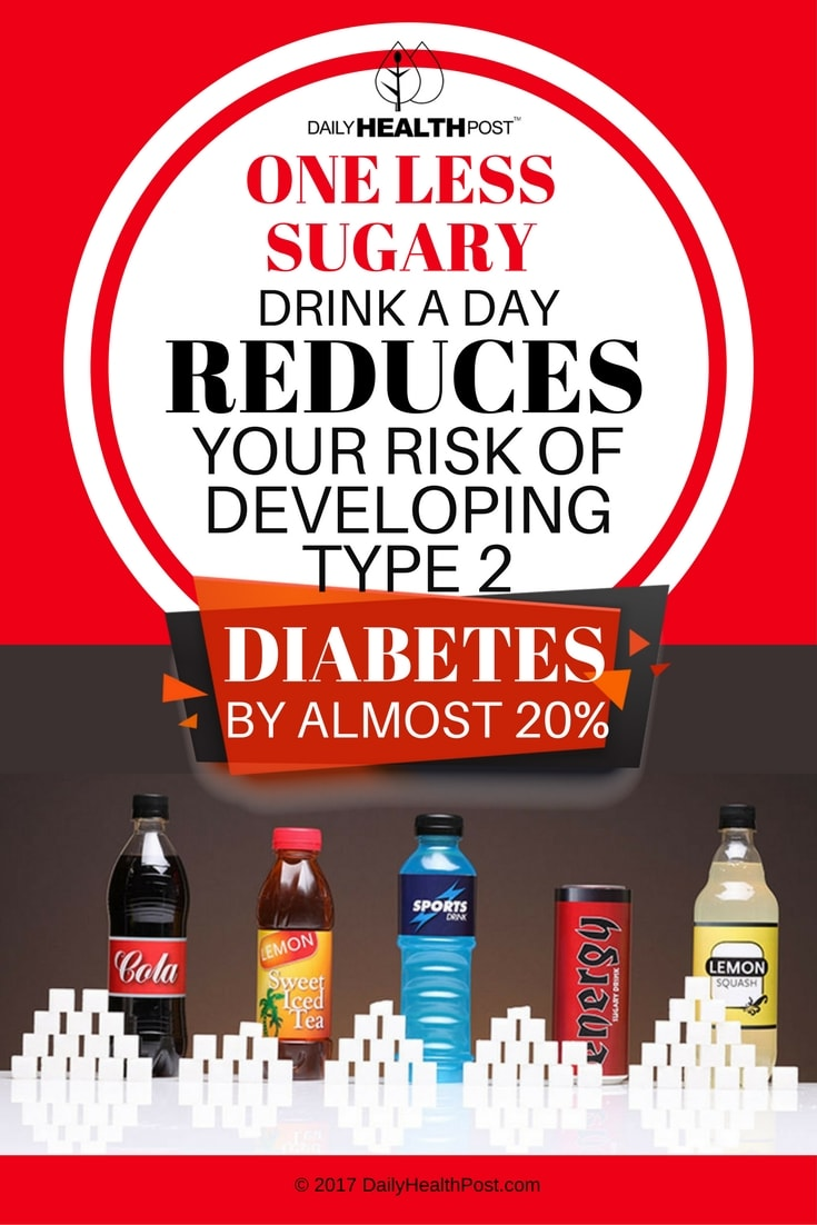 one less sugary drink reduce risk of diabetes
