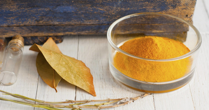 turmeric and bay leaves