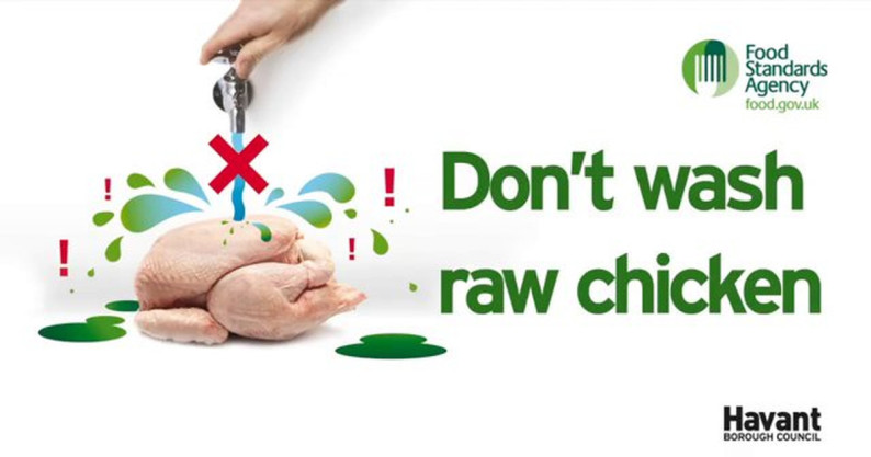 don't wash raw chicken