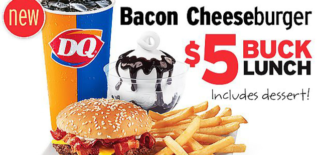 dairy queen bacon cheeseburger