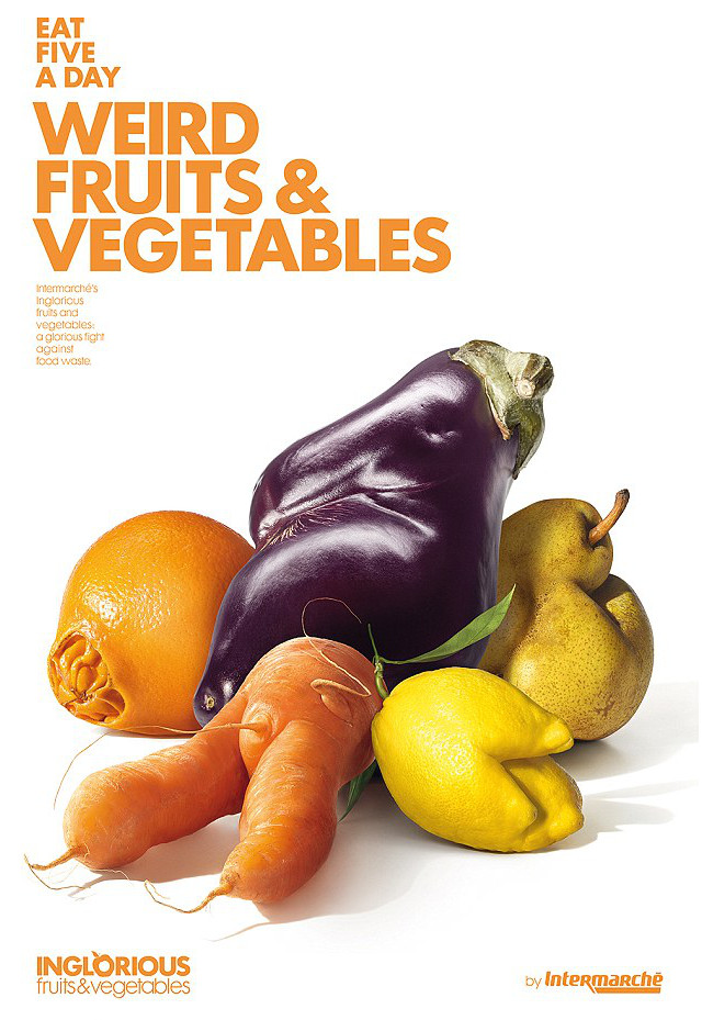 ugly fruits and vegetables intermarche