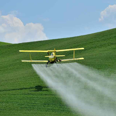 plane spraying glyphosate