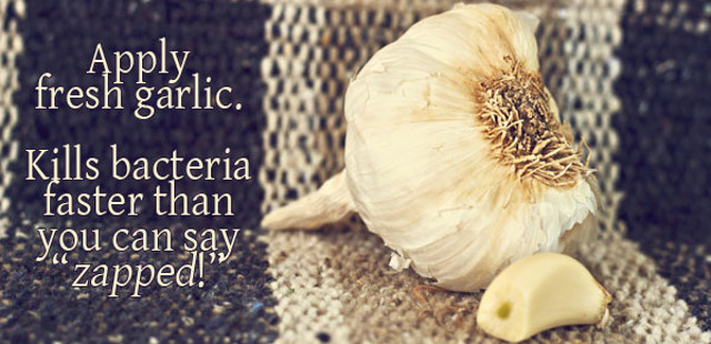 acne natural remedy garlic