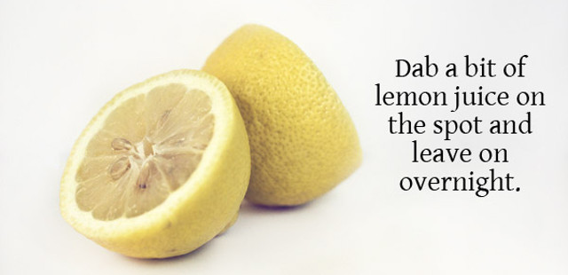 acne natural remedy lemon juice