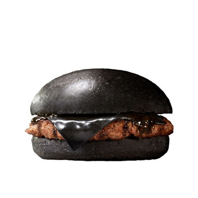 bizarre black burger