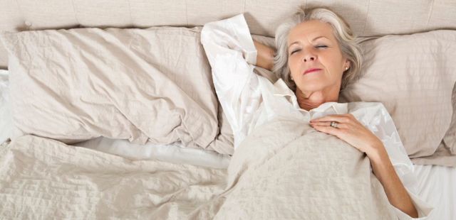 elderly people sleep less