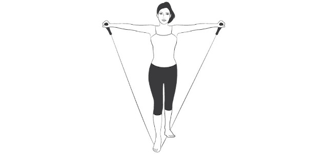 resistance band v move stretch