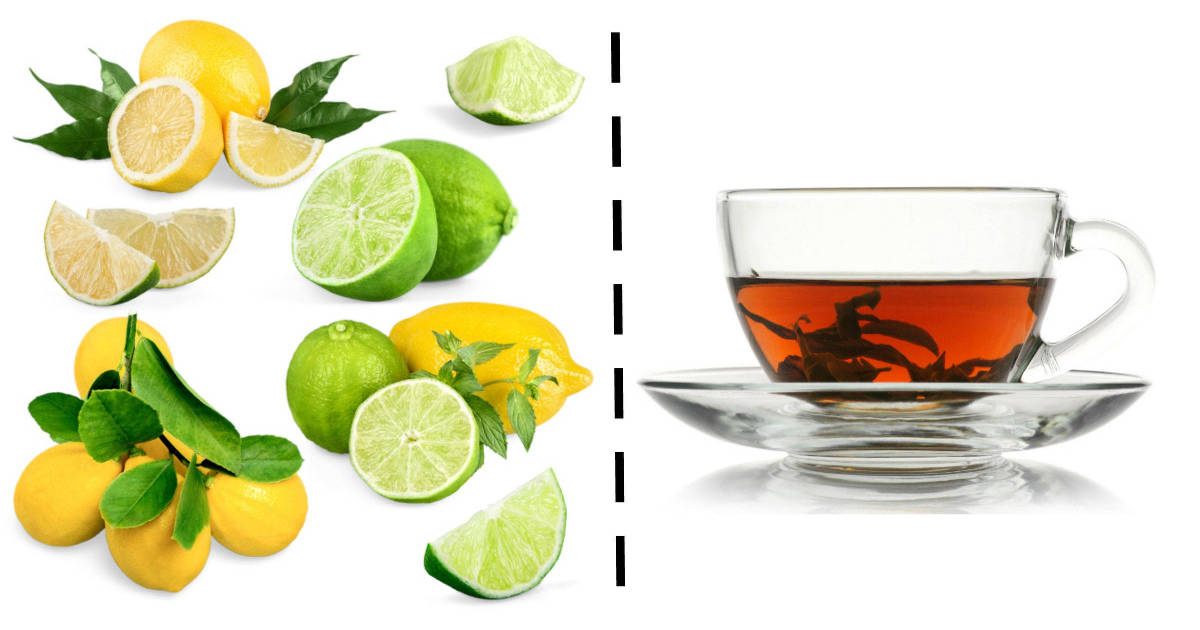 citrus fruits and tea