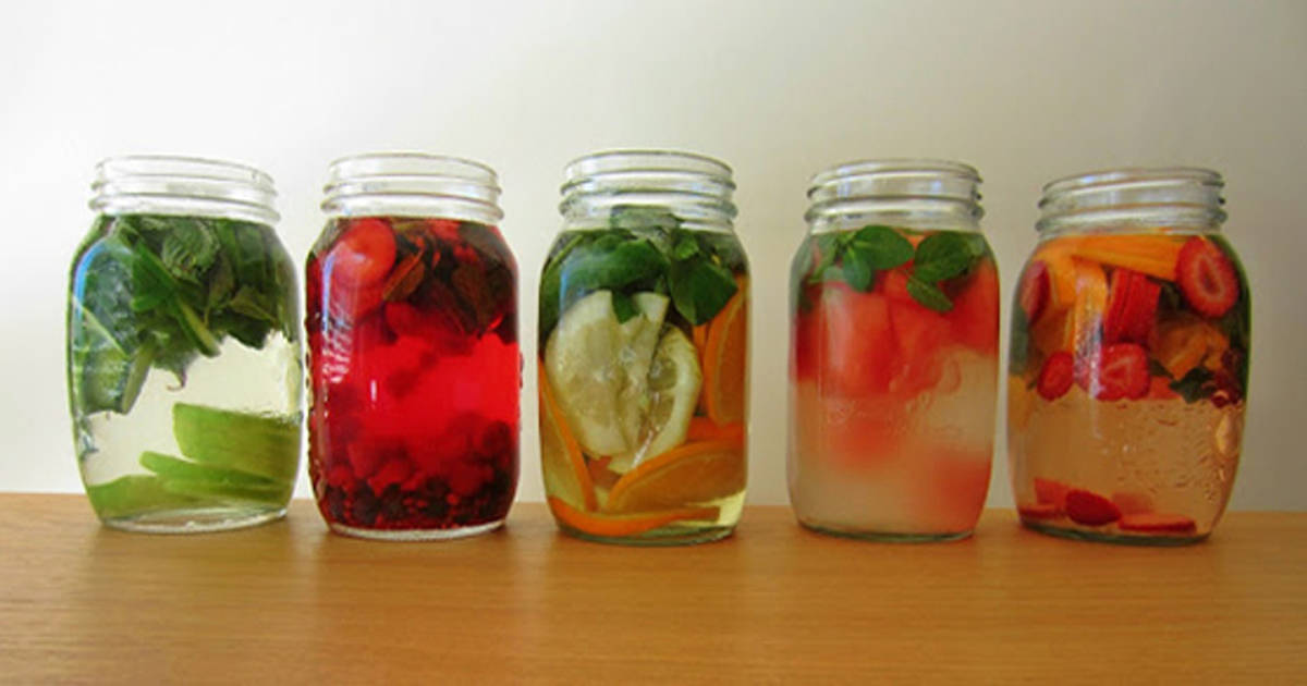 water infused recipes