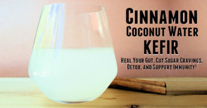 coconut kefir water
