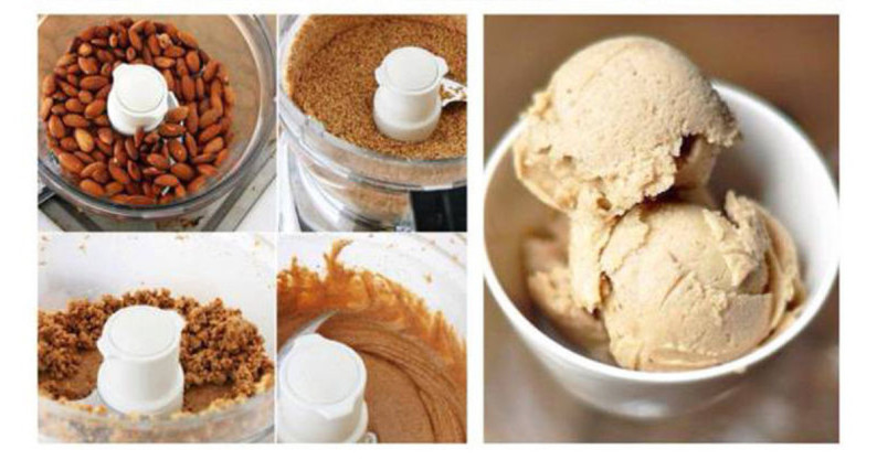 raw banana almond butter ice cream recipe