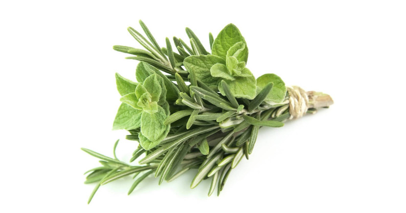 oregano and rosemary
