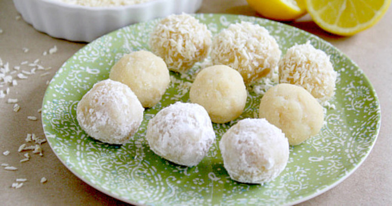 coconut lemon balls