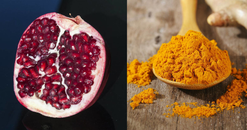 pomegranate and turmeric