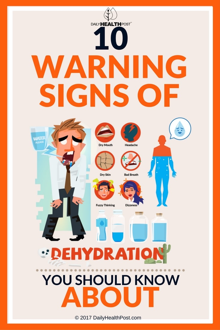 signs of water dehydration