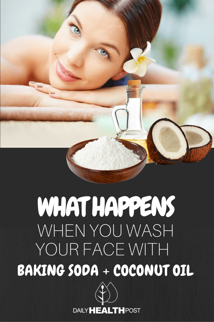 coconut oil and baking soda. coconut oil face wash