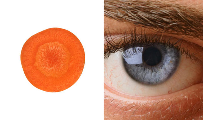 carrots and eyes