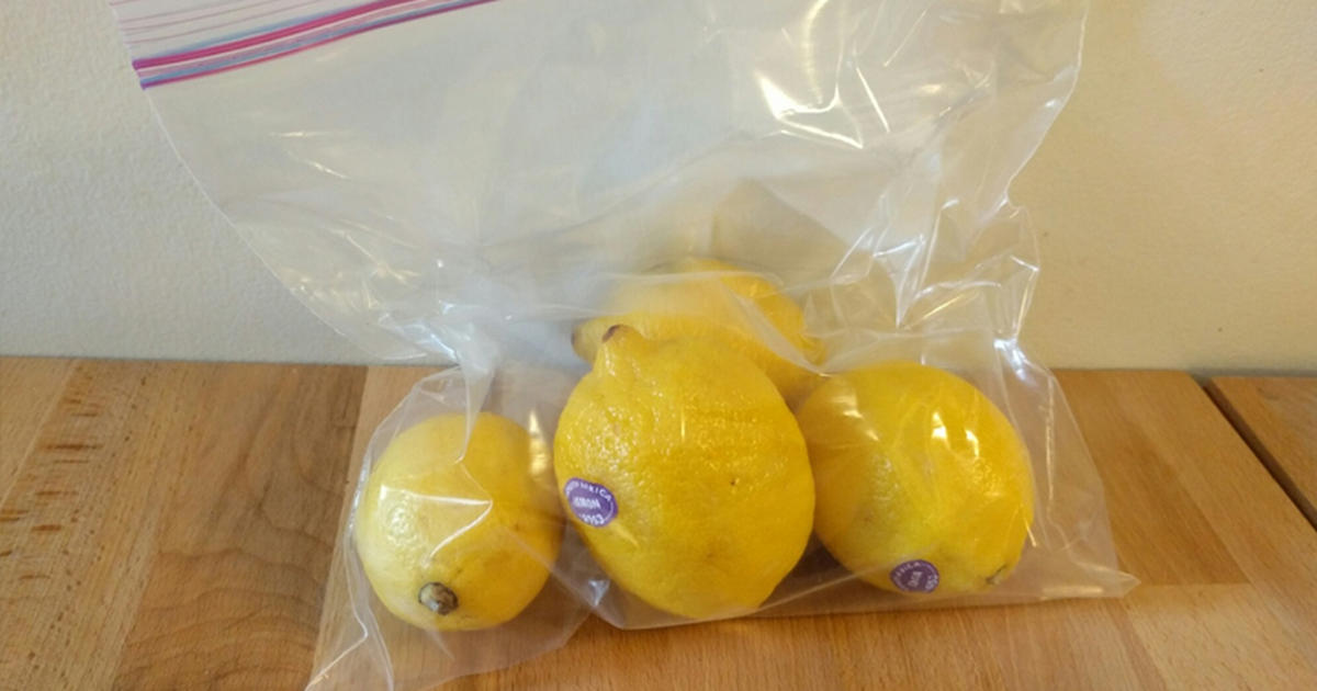 lemon plastic bag