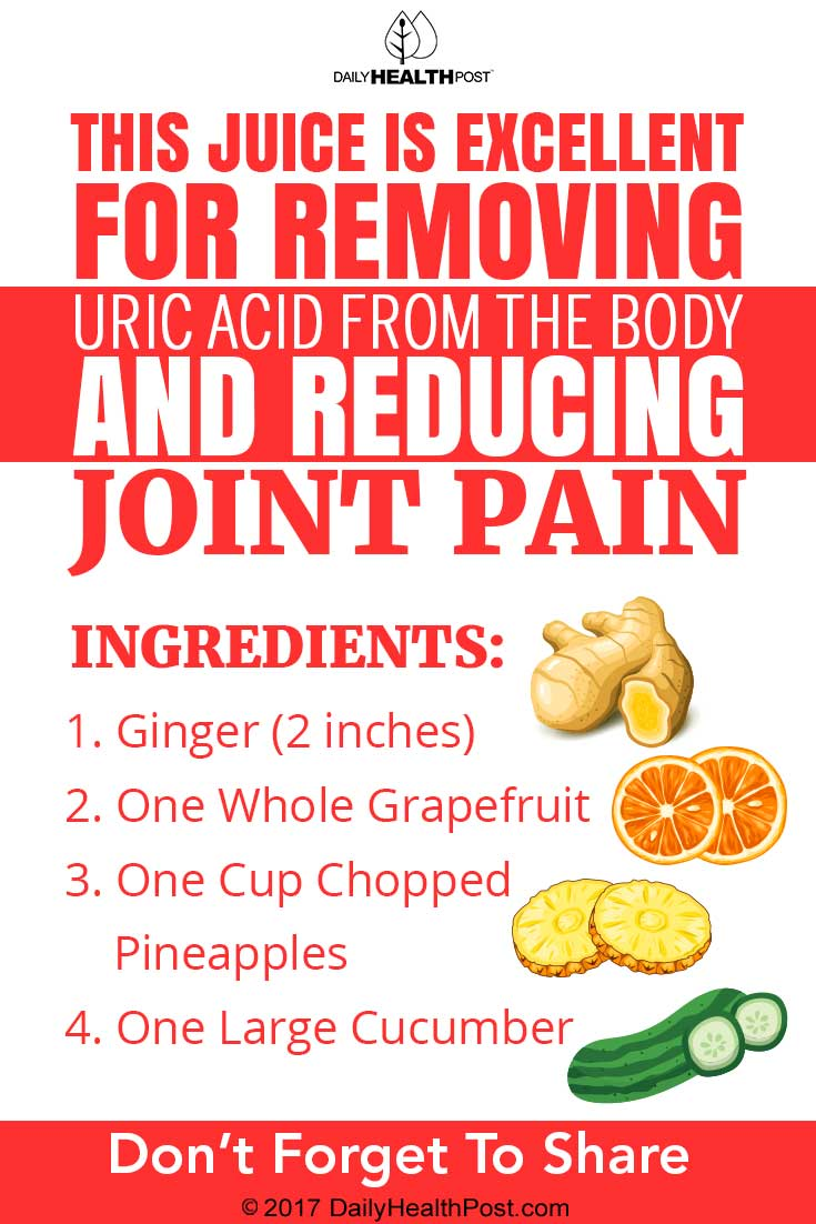 juice for joint pain