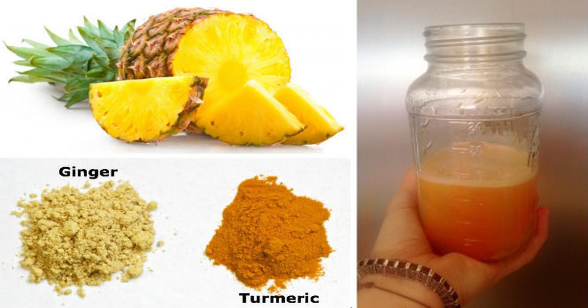 pineapple and turmeric juice