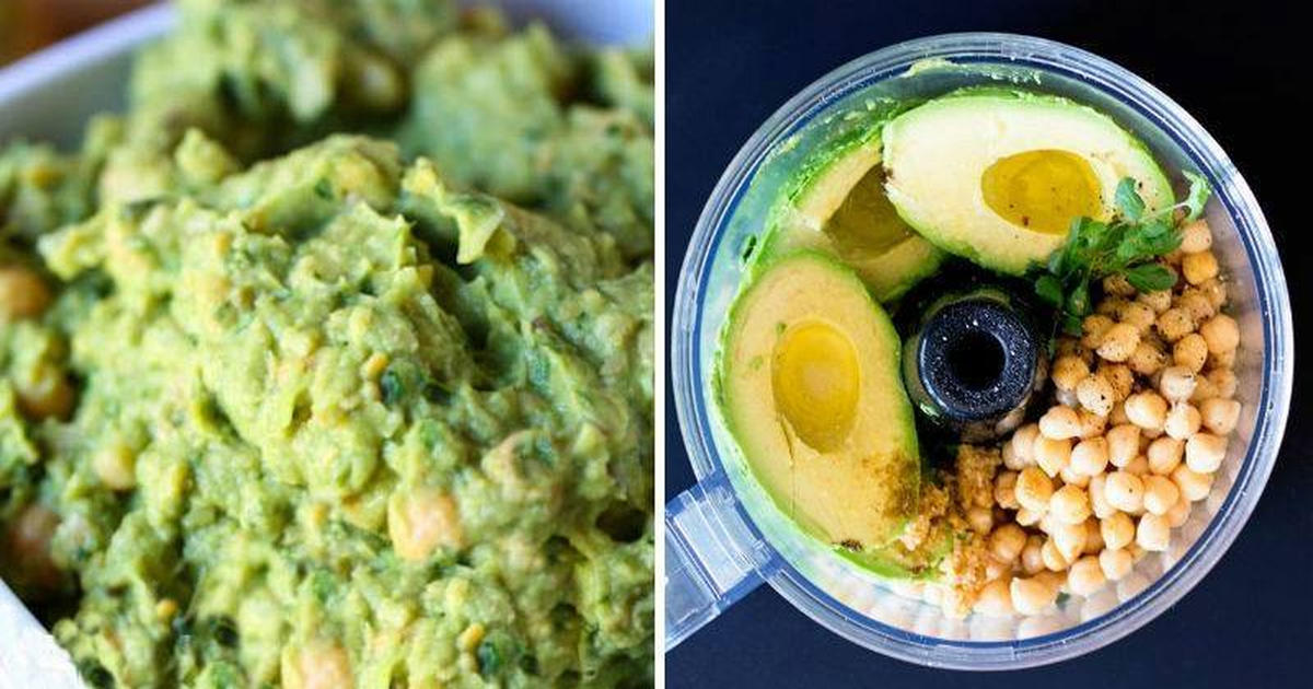 avocado and hummus