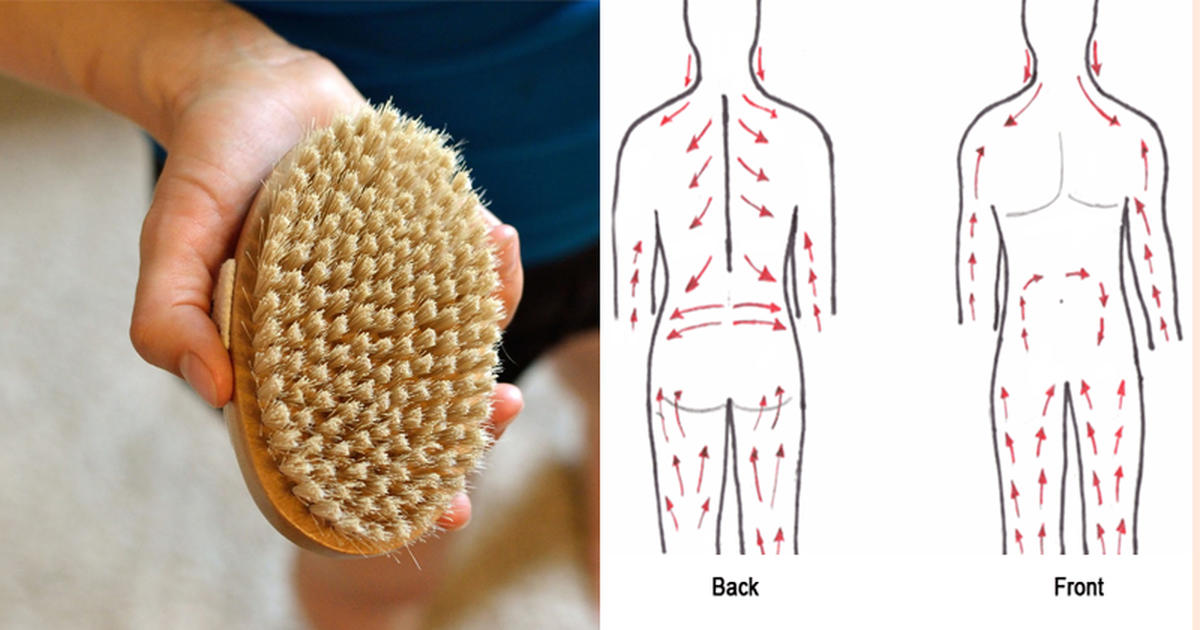 Dry Skin Brushing For Detoxifying The Body And Smooth Skin