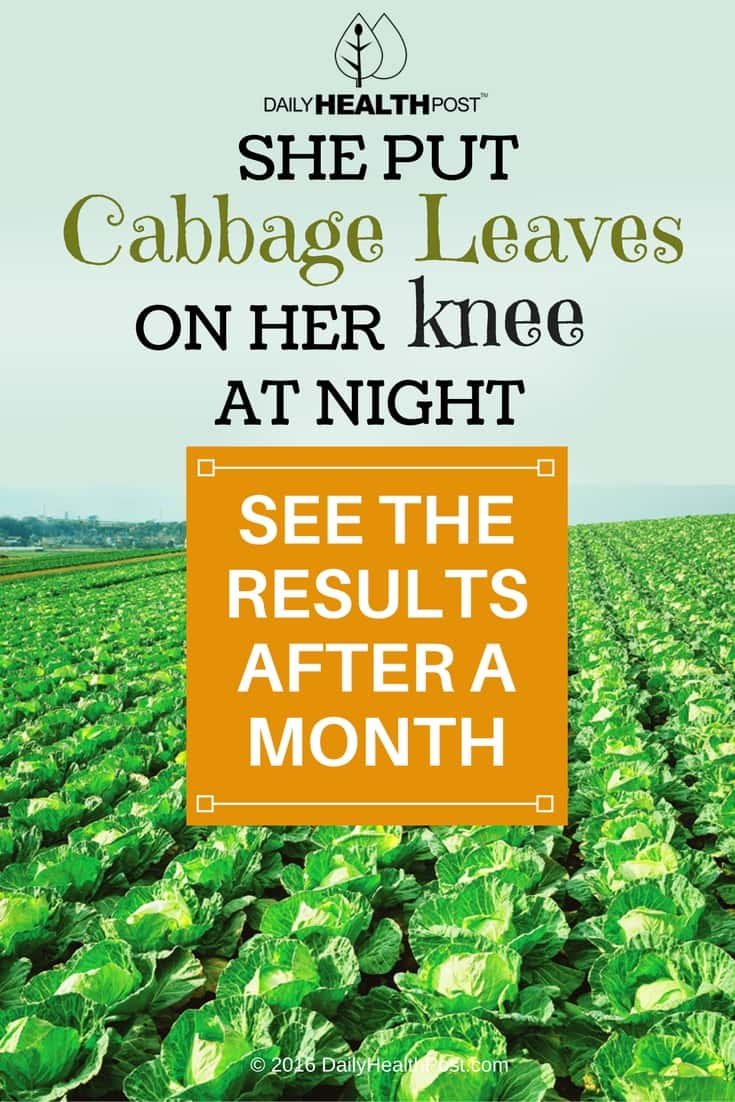 07 She Put Cabbage Leaves On Her Knee At Night – See The Results After a Month-min