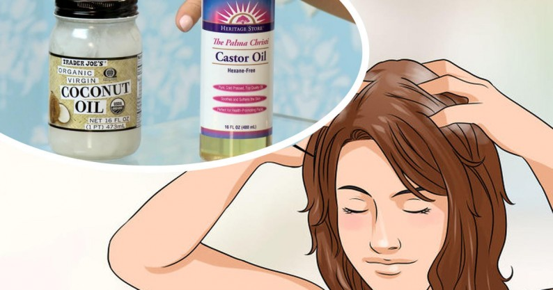 coconut and castor hair treatment