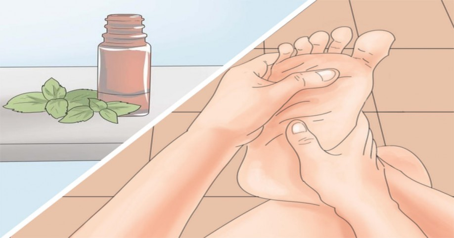 essential oils feet