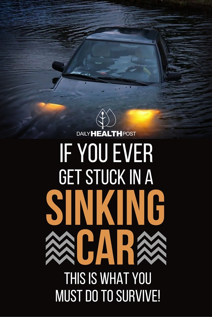 If You Ever Get Stuck In a Sinking Car, THIS Is What You MUST Do To Survive!