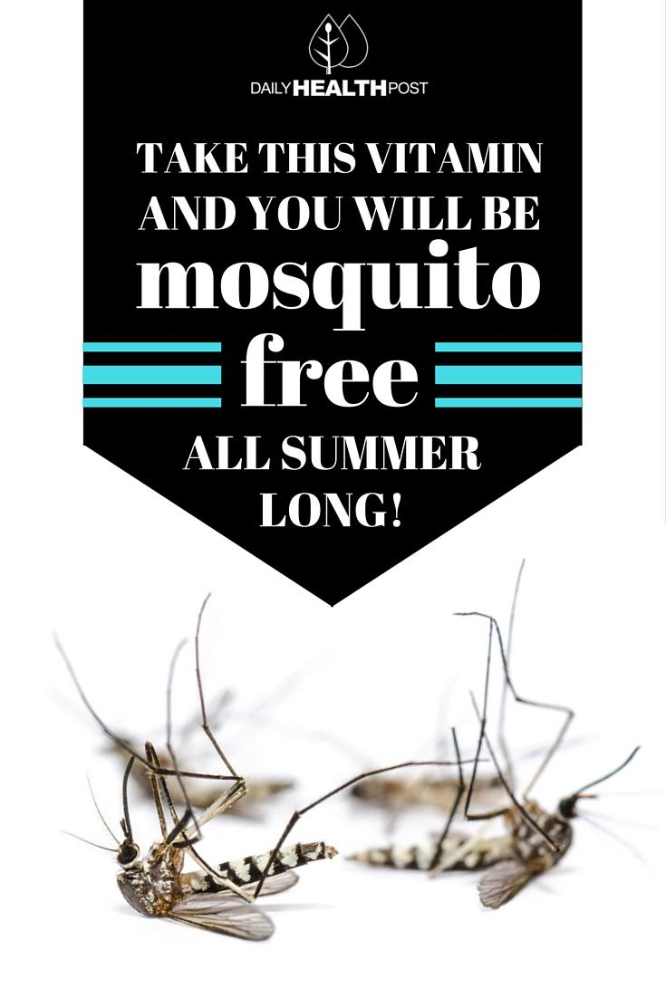 Take THIS Vitamin and You Will Be Mosquito Free All Summer Long!
