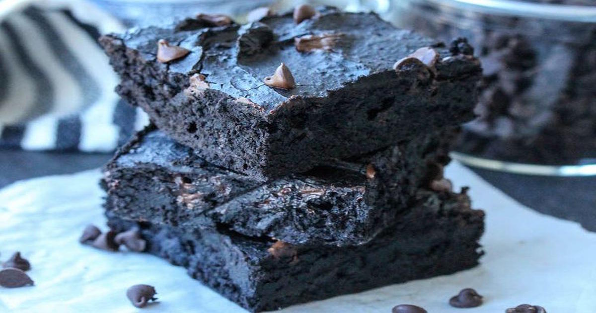 almond butter chocolate brownie