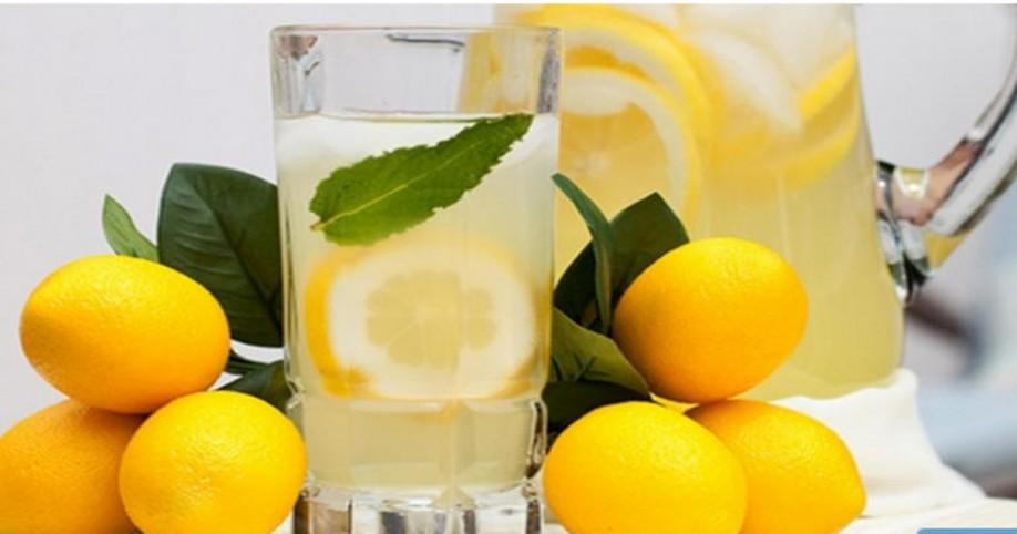 drink lemon water