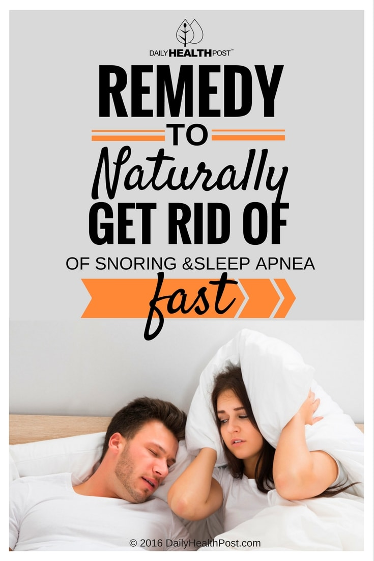remedy get rid of snoring and sleep apnea