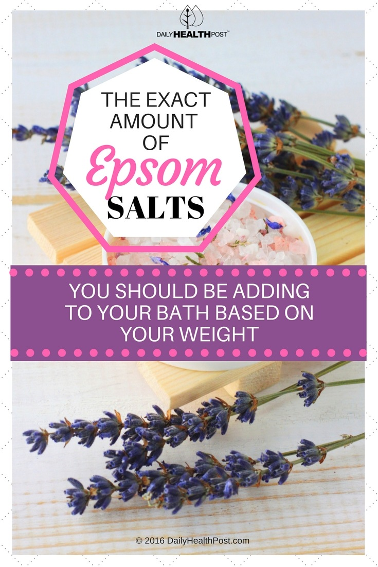 The Exact Amount Of Epsom Salts You Should Be Adding To Your Bath