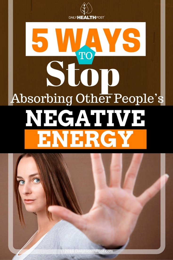 stop absorbing negative energy