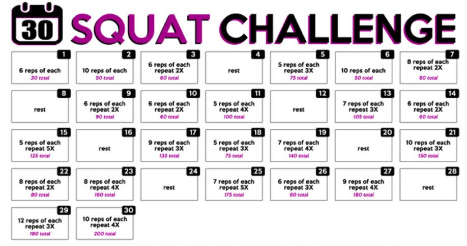 this 30 day squat challenge will get your butt in shape