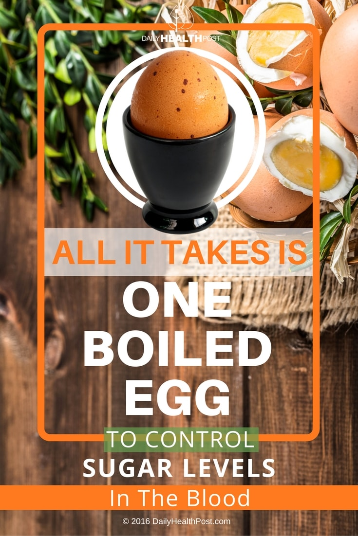 How To Control Blood Sugar Levels With A Boiled Egg
