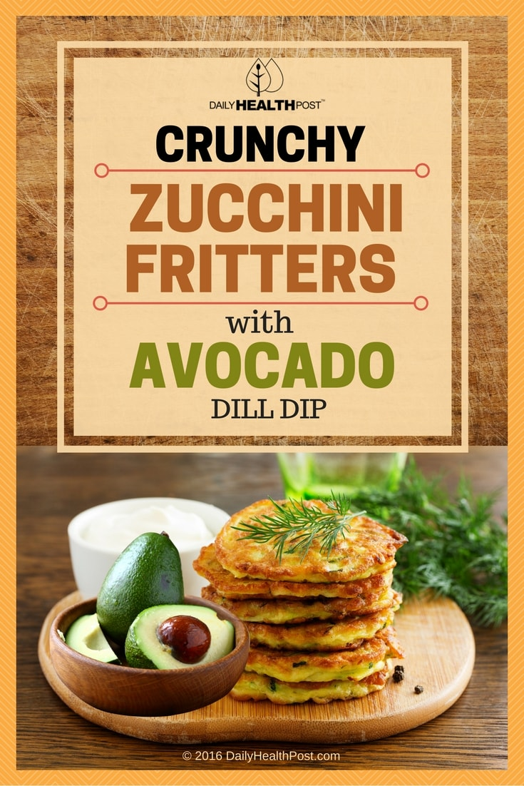 crunchy-zucchini-fritters-with-avocado-dill-dip