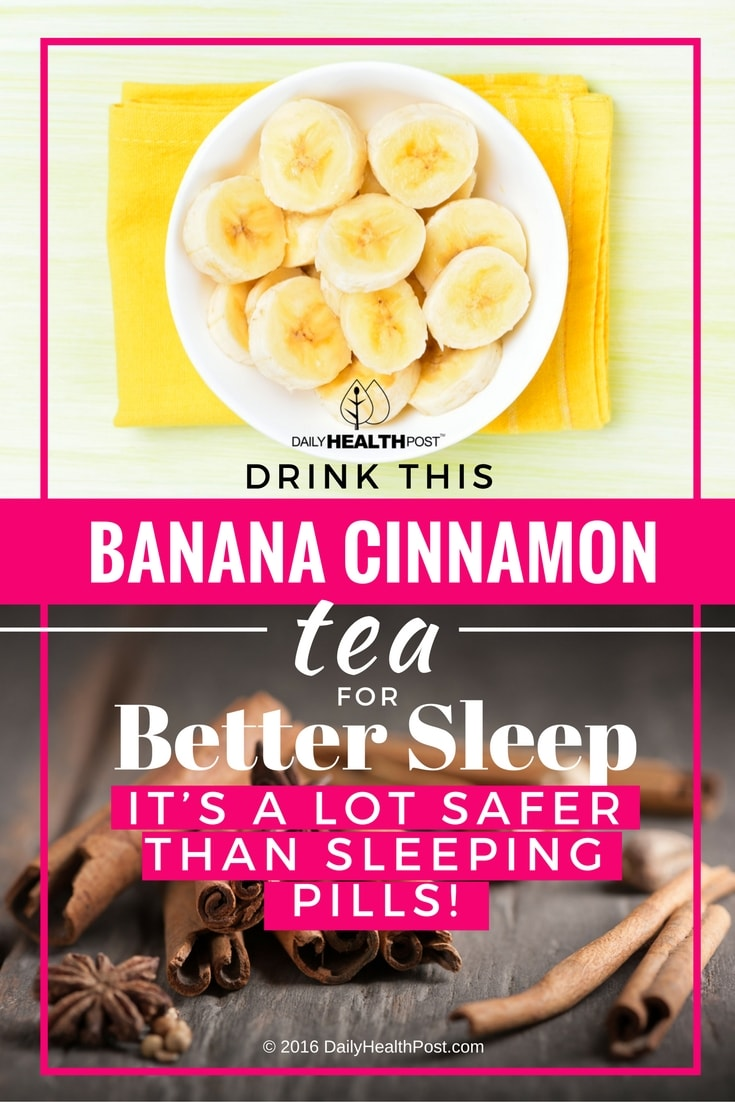banana cinnamon tea for sleep