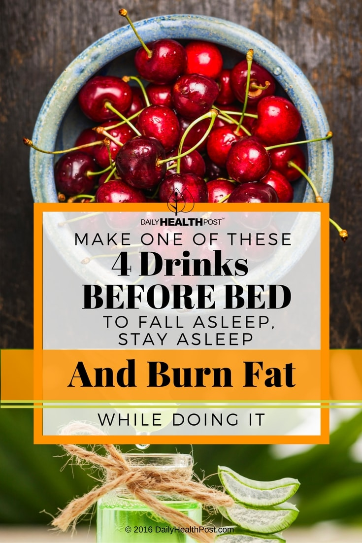 make one of these 4 fat burning drinks before bed to fall asleep stay asleep