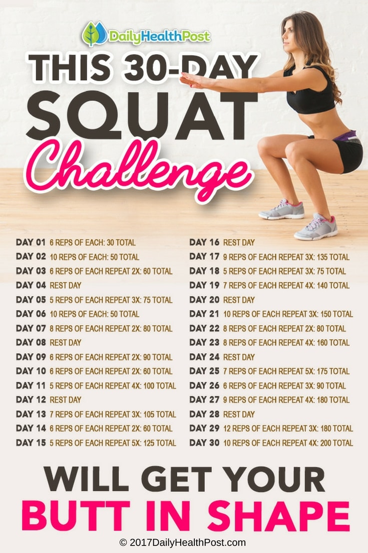 This 30 Day Squat Challenge Will Get Your Butt In Shape-2960