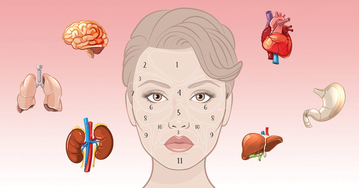 Chinese Face Map Reveals What Part Of Your Body Is Sick