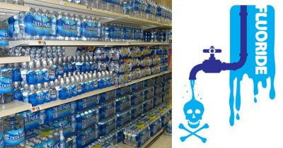 fluoridated bottled water