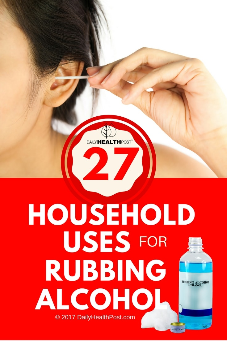 rubbing alcohol uses