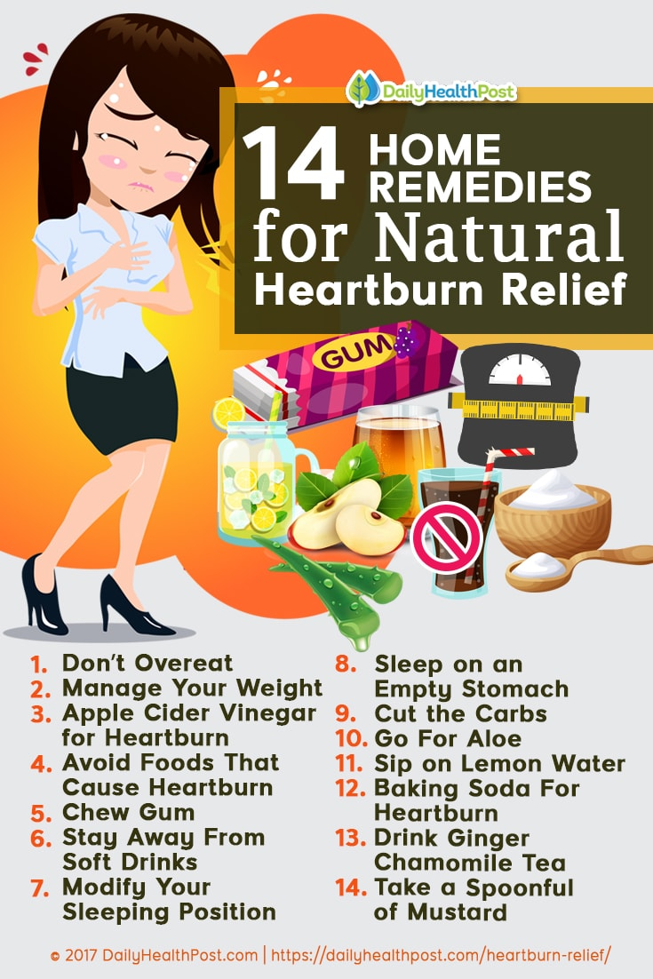 14 Natural Remedies for Heartburn Relief ( courtecy