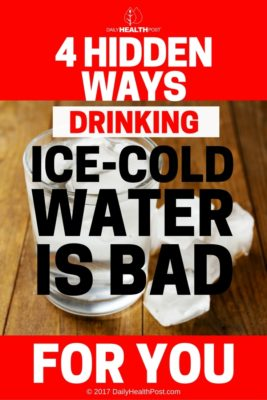 is cold water bad for you