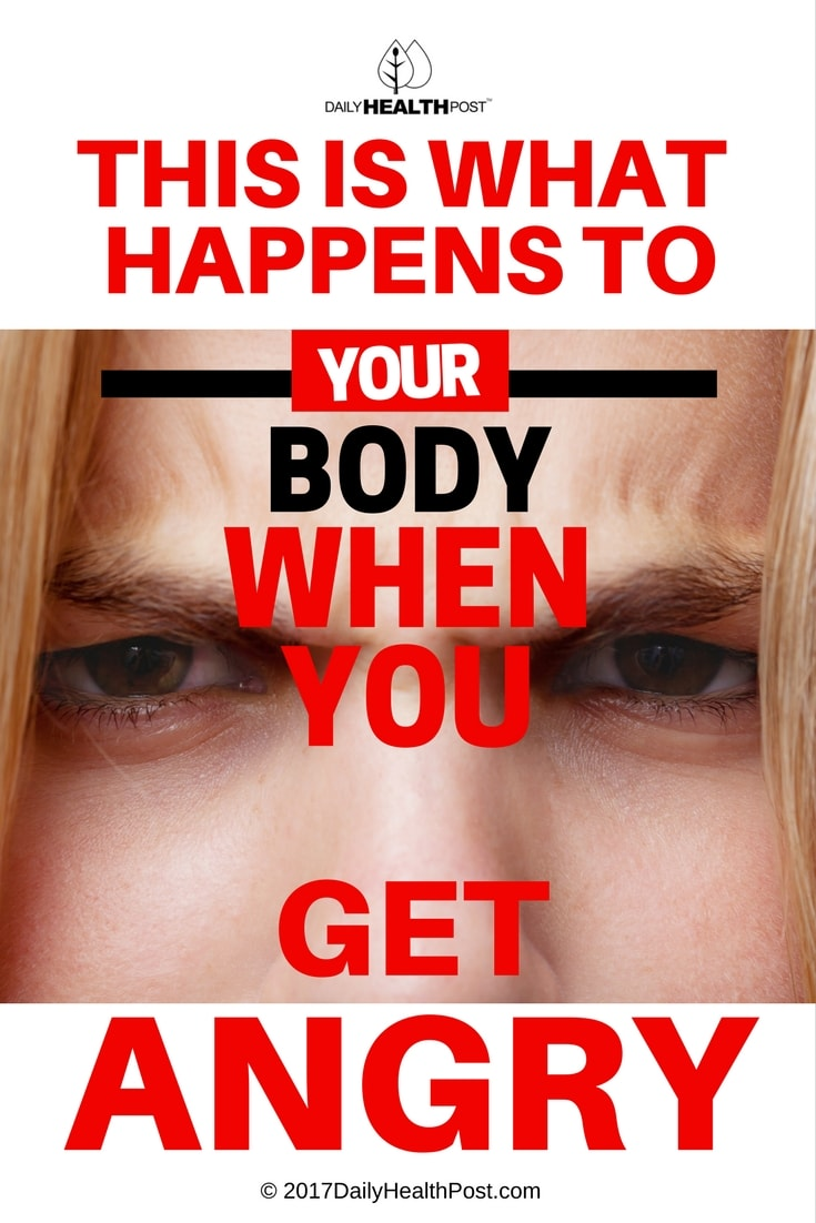 what happens to your body when you get angry