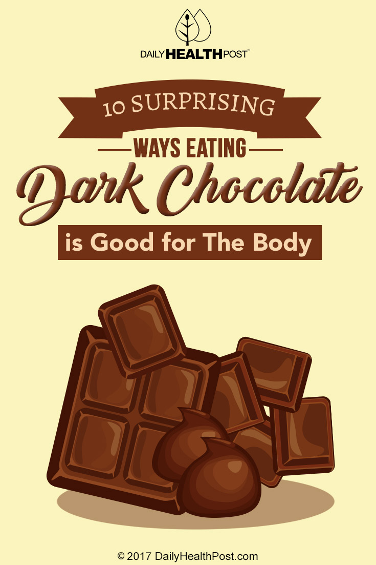 10 Sweet Ways Eating Dark Chocolate is Good for The Body