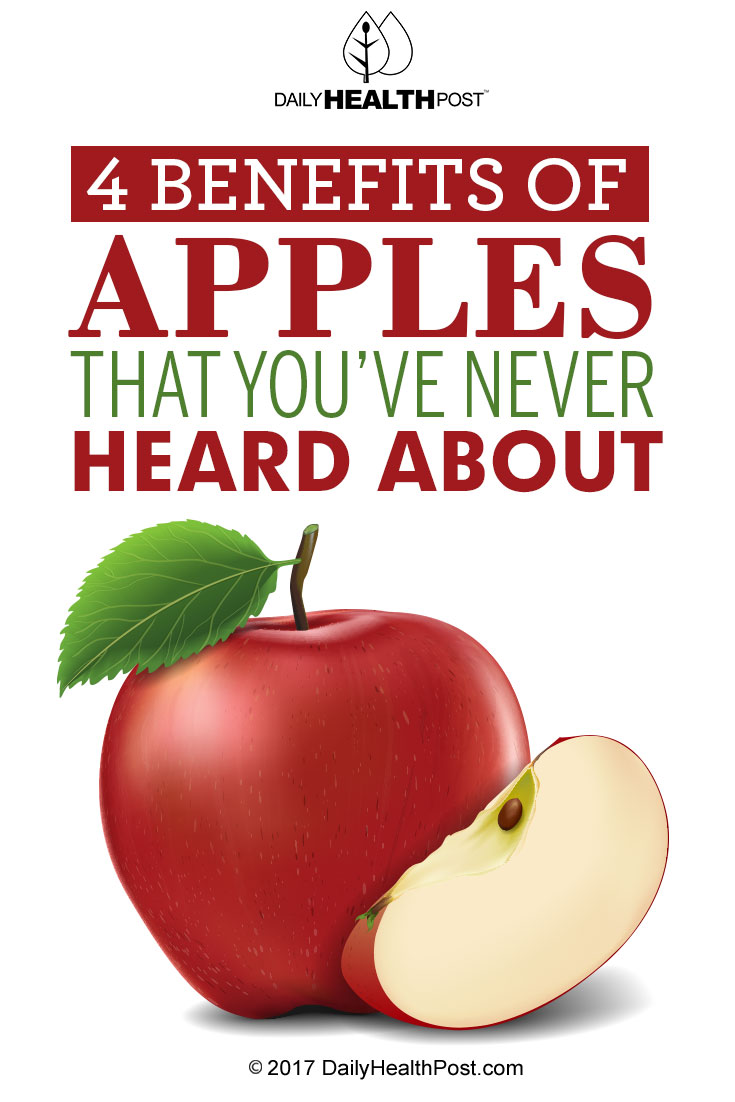 4 benefits of apples that you u0027ve never heard about